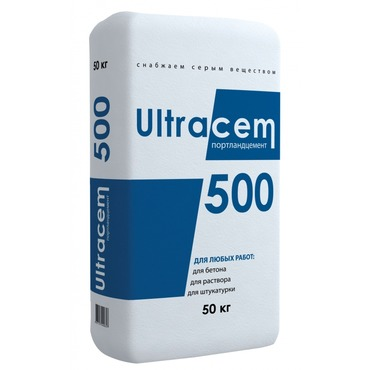 Портланд цемент Ultracem 500, 50 кг